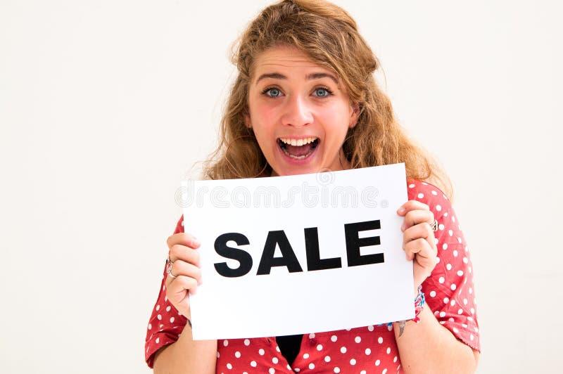 deskowi sprzedaży kobiety potomstwa obrazy stock