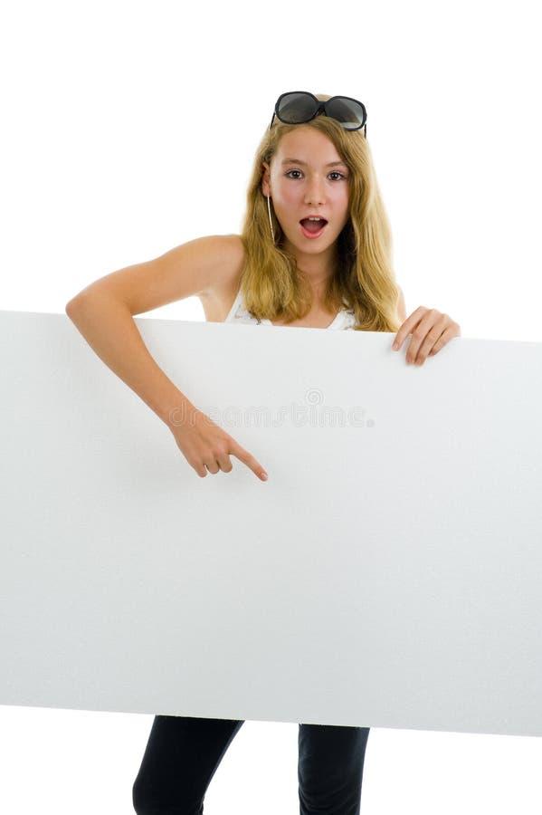 deskowy dziewczyny nastolatka biel obraz royalty free