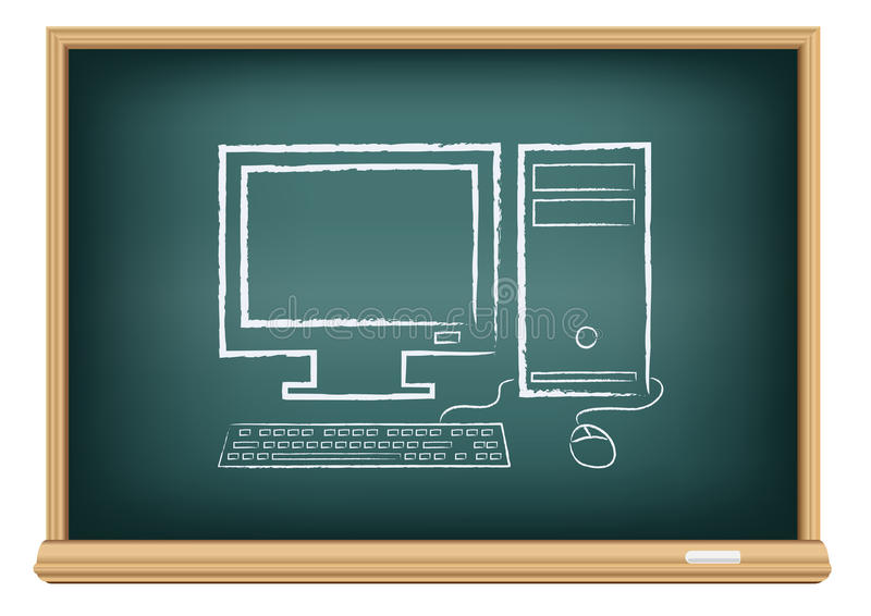 Deskowy komputer stacjonarny ilustracji