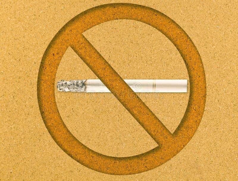 deskowy korkowy palenie zabronione fotografia stock
