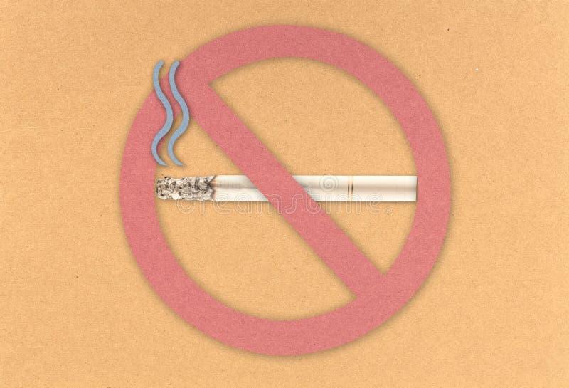 deskowy korkowy palenie zabronione zdjęcie royalty free