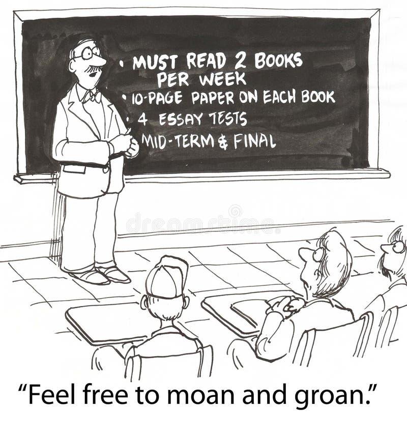 deskowy nauczyciel ilustracja wektor