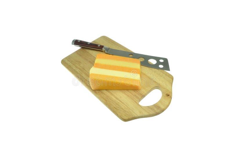 deskowy serowy drewniany zdjęcia stock
