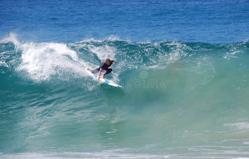 Deskowy surfingowiec przy Aliso plażą, laguna beach, Kalifornia fotografia royalty free