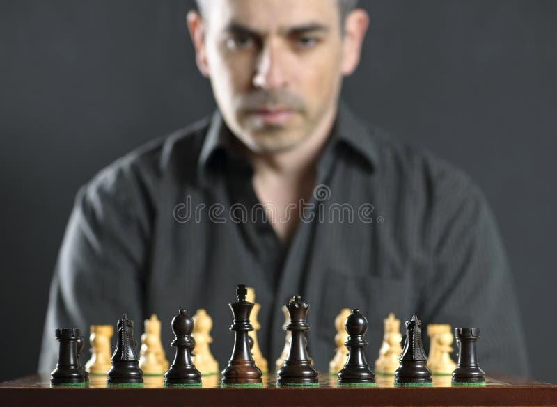 deskowy szachowy mężczyzna zdjęcie stock