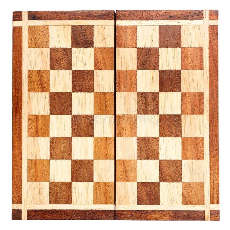deskowy szachowy stary drewniany zdjęcia stock