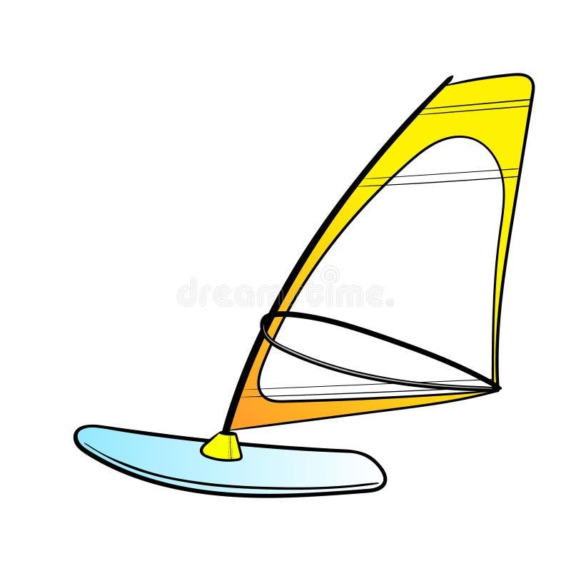 Deskowy Windsurfing wektor Pla?a Lato Lato vect0r ilustracja ilustracji