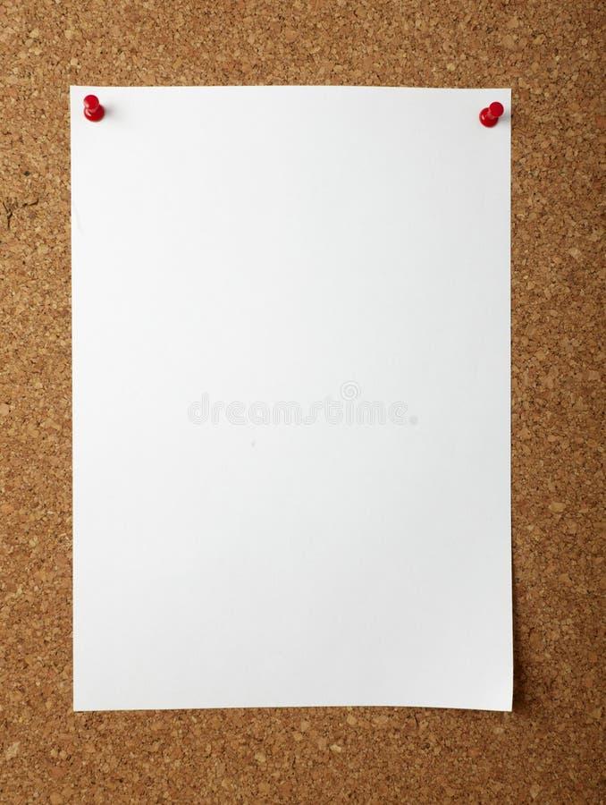 deskowych biznesu korka notatek biurowy szpilek pchnięcie obrazy royalty free