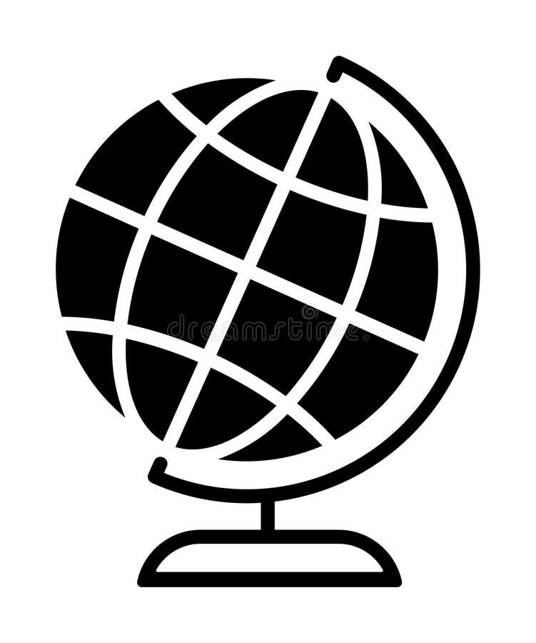 Desktop światowa kuli ziemskiej ikona royalty ilustracja