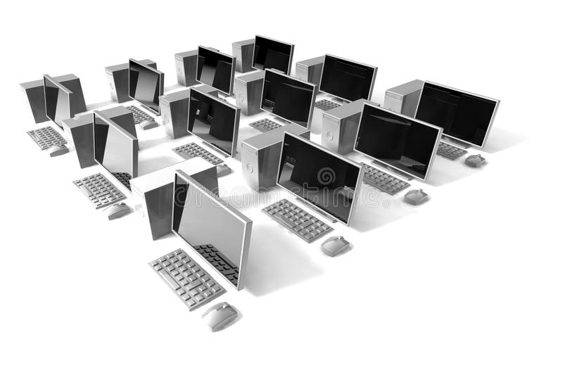 Desktop 3D Icon NET Royalty Free Stock Photography
