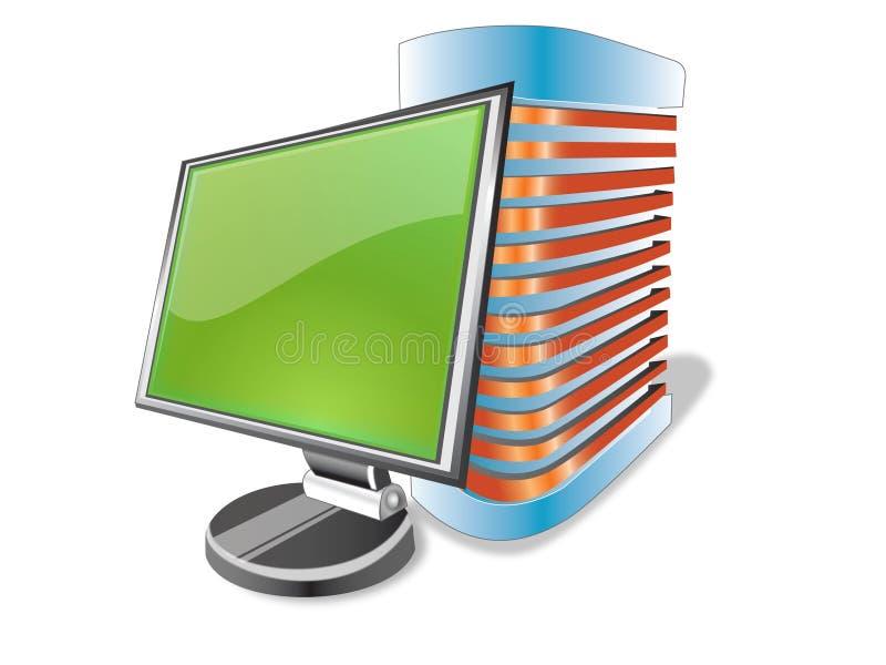 Desktop ilustração stock