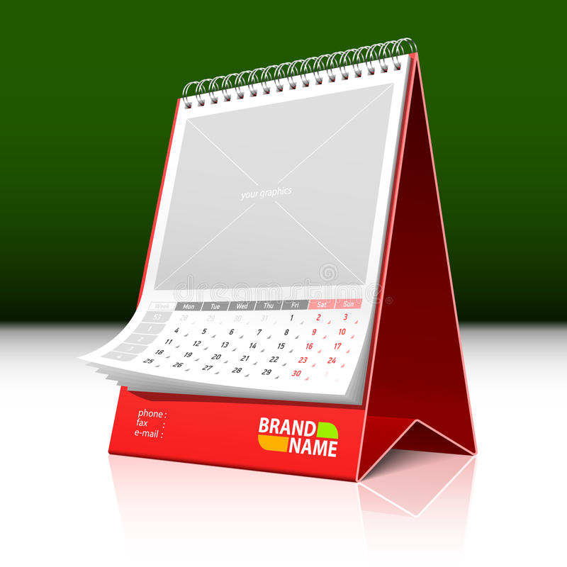 Desktop Calendar Royalty Free Stock Photo