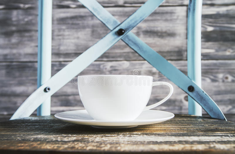 Desktop with coffee cup royalty free stock image