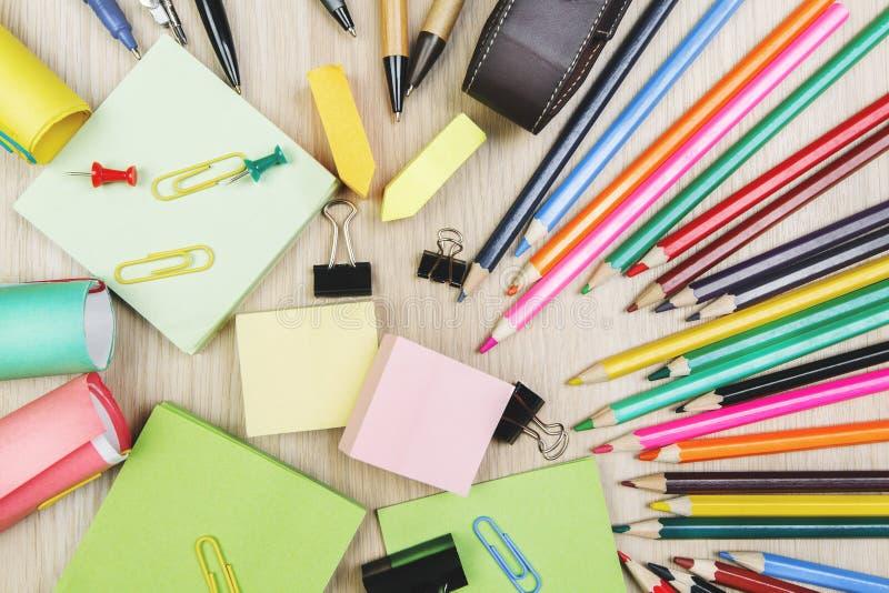 Desktop com fontes coloridas imagens de stock royalty free