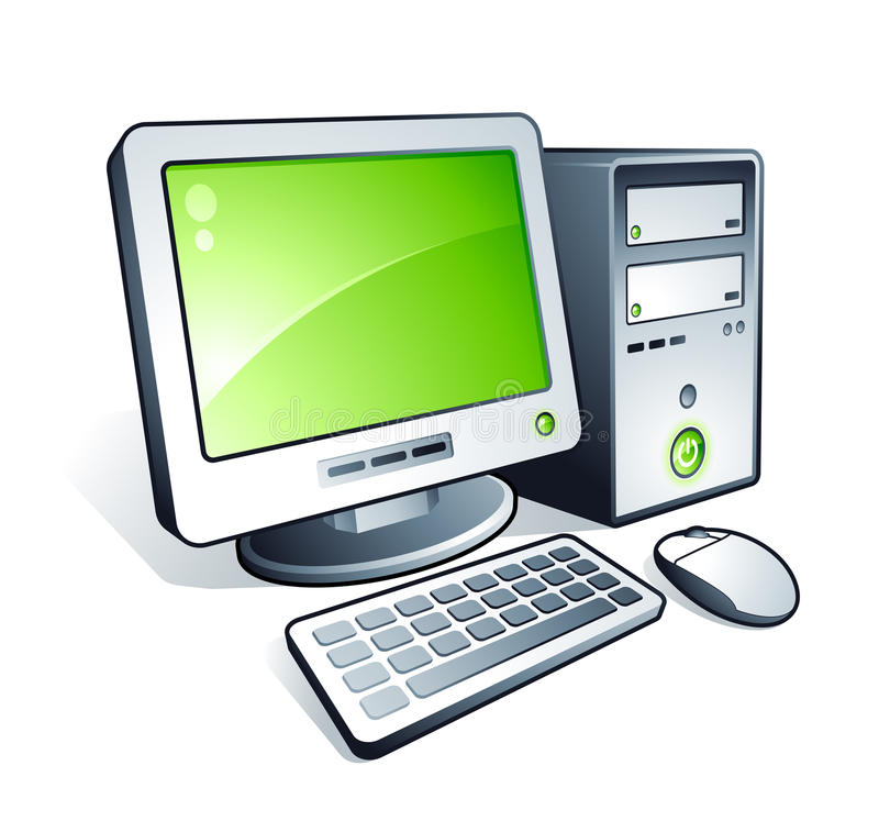 Download Desktop computer stock vector. Image of image, dimensional - 12027669