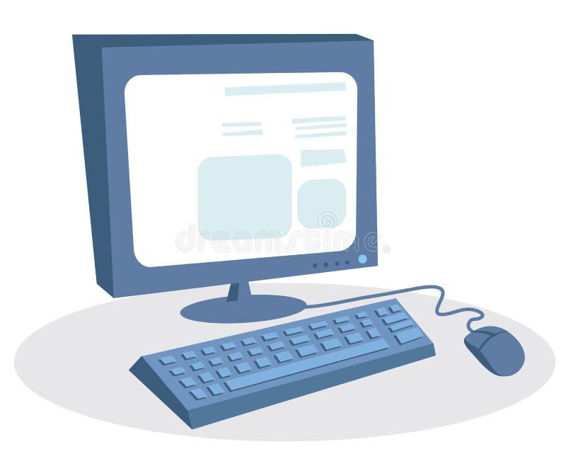 Download Desktop computer stock vector. Image of screen, communication - 21910369