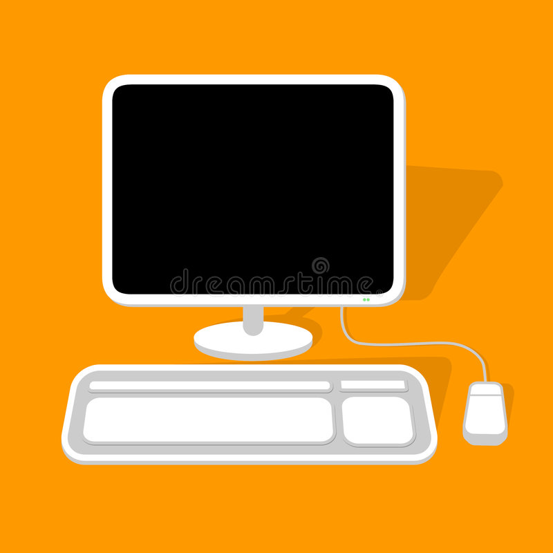 Desktop Computer royalty free illustration