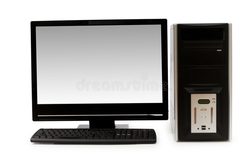 Download Desktop computer isolated stock image. Image of black - 6099113
