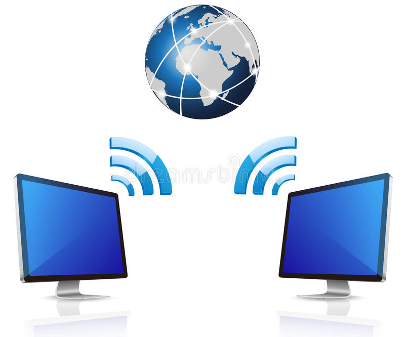Desktop Computer And Wireless Royalty Free Stock Photography