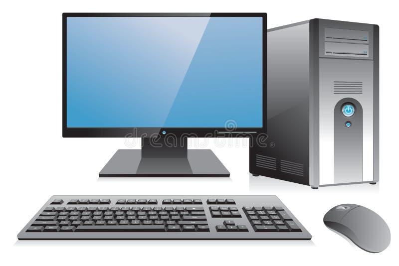 Desktop computer workstation royalty free illustration