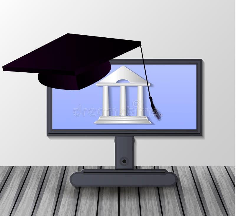 desktop Concepto de educación stock de ilustración