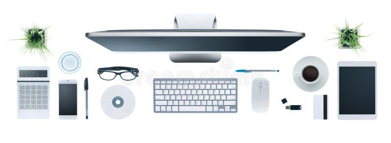 desktop di affari di Ciao-tecnologia illustrazione vettoriale