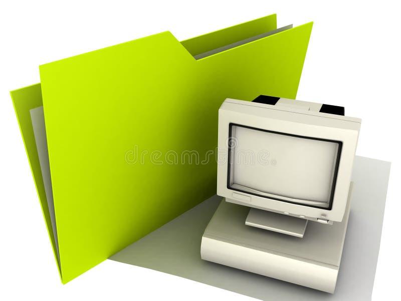 Desktop do dobrador ilustração stock