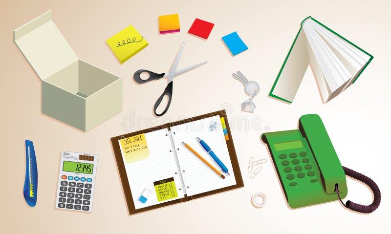 Desktop do escritório ilustração stock