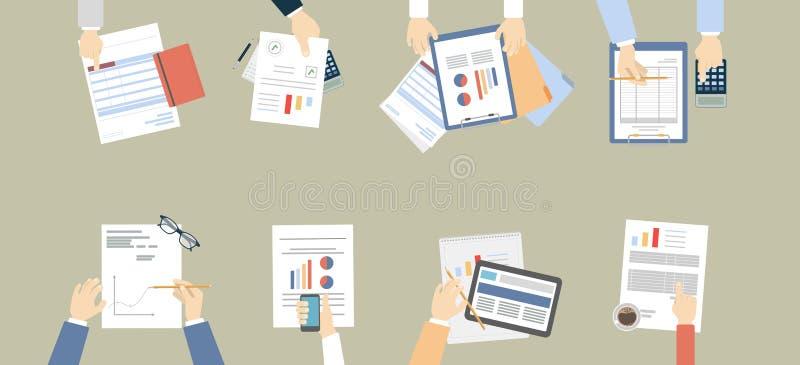 Desktop do trabalho ilustração do vetor
