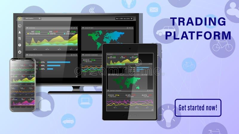 Desktop für Finanzgeschäfte vektor abbildung