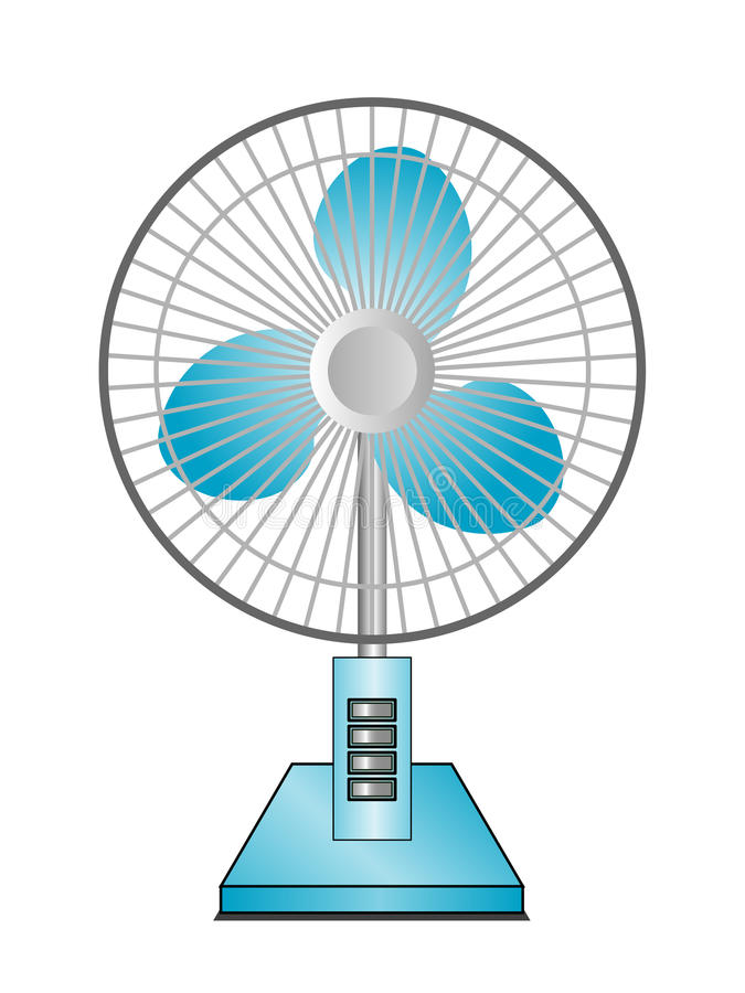 Desktop fan ilustracja wektor