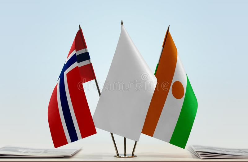 Flags of Norway and Niger royalty free stock images