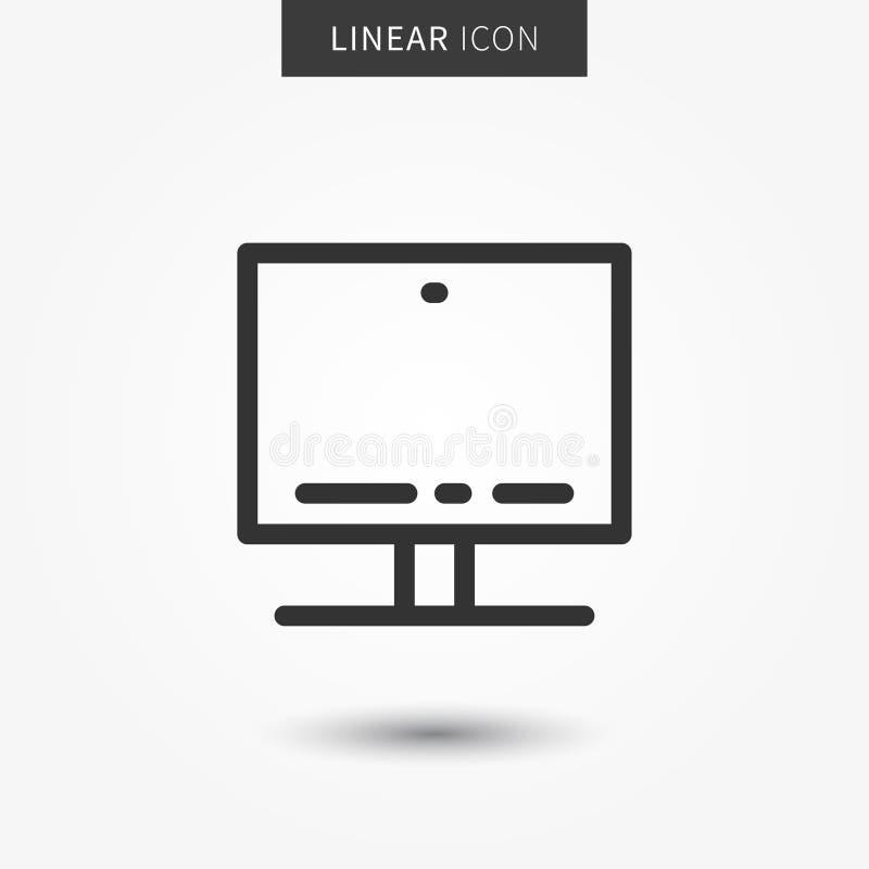 Desktop Icon Vector Illustration Stock Vector Illustration Of Flat