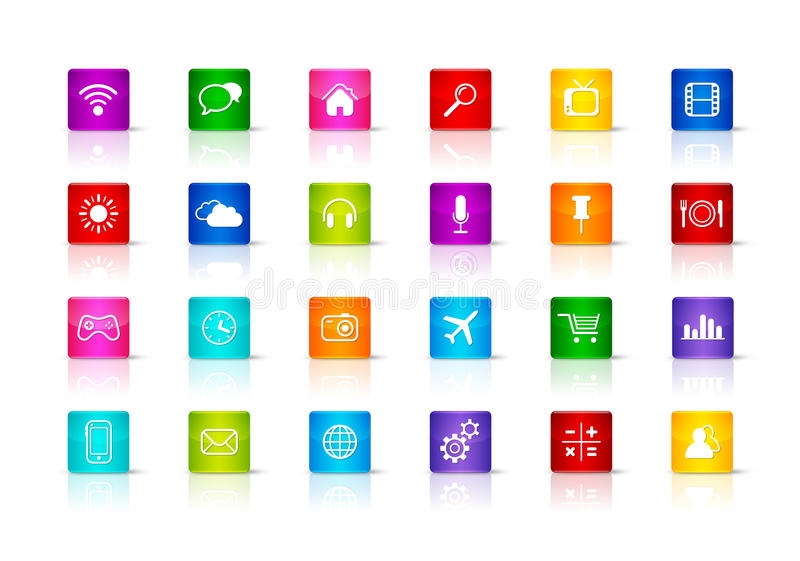 Desktop Icons collection. On a white background vector illustration