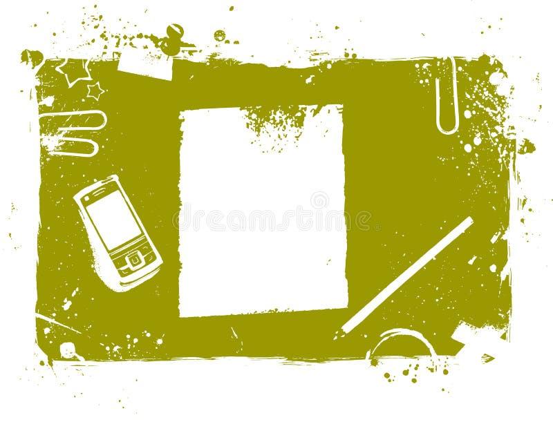 Desktop illustration stock illustration