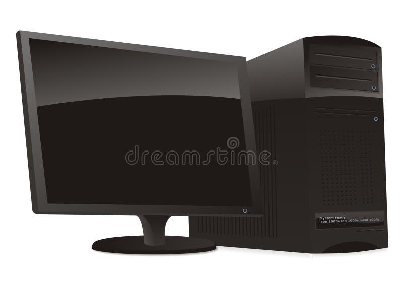 desktop komputerowy ilustracja wektor