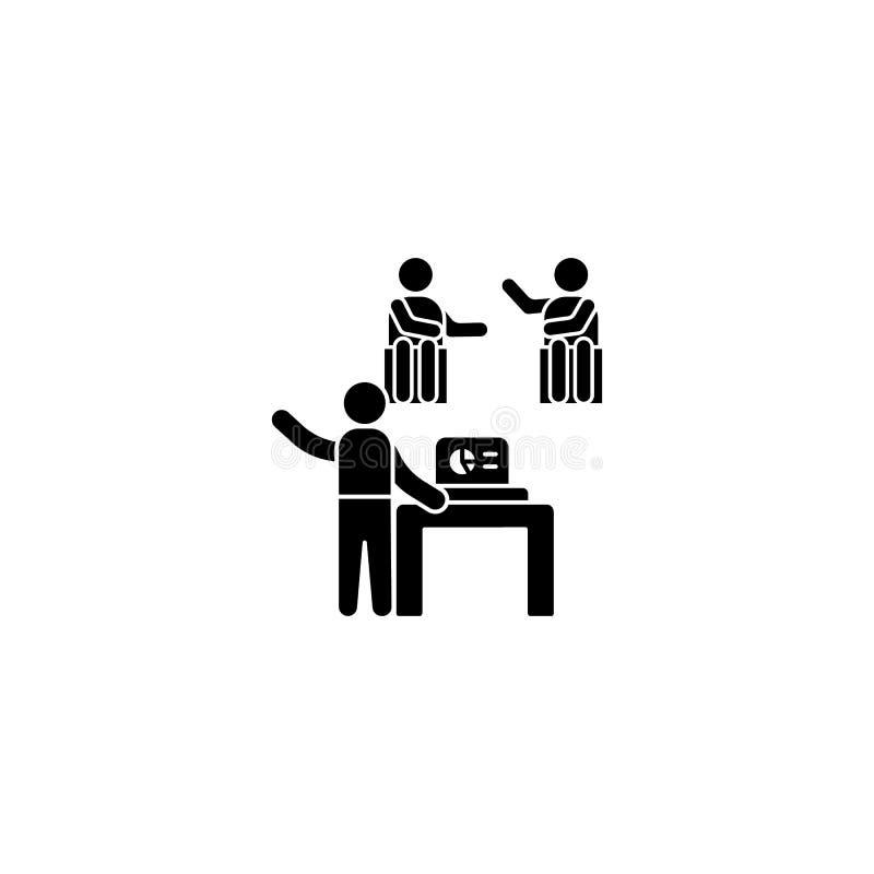 Desktop-Laptop-Trainer-Symbol Einfache Business-Indoktron-Icons für i und ux, Website oder mobile Anwendungen stock abbildung
