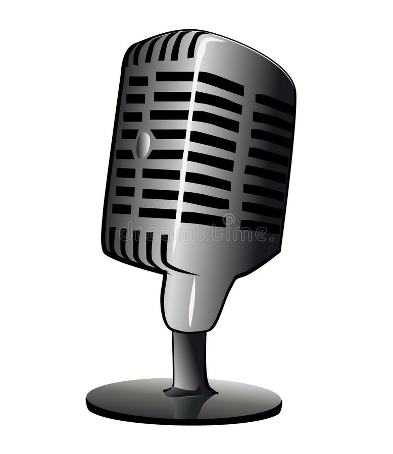 Desktop Microphone Stock Image