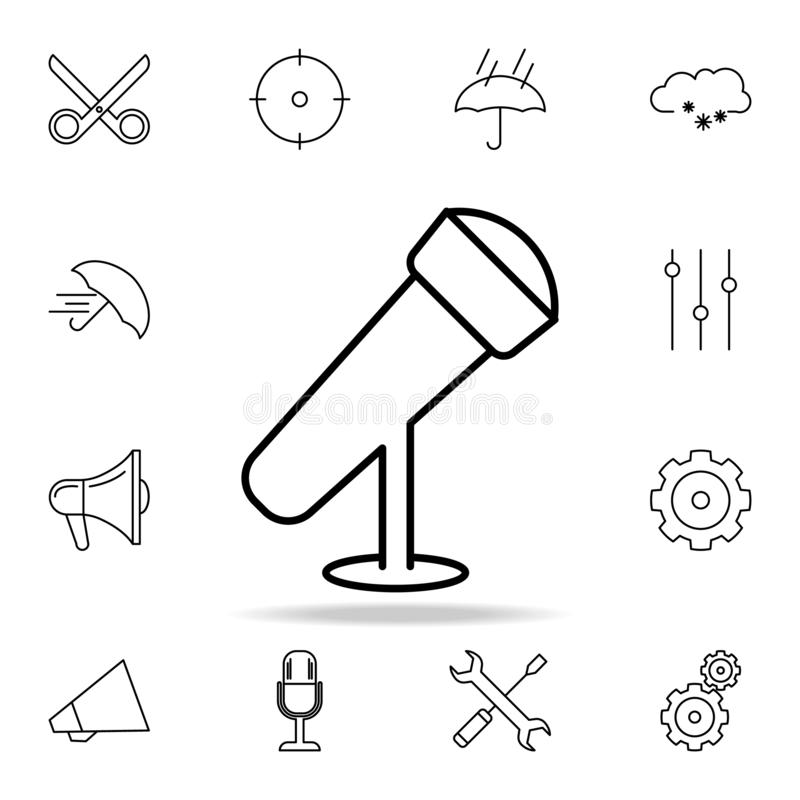 Desktop microphone icon. Detailed set of simple icons. Premium graphic design. One of the collection icons for websites, web. Design, mobile app on white vector illustration