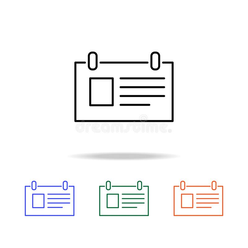 desktop notepad icon. Elements of simple web icon in multi color. Premium quality graphic design icon. Simple icon for websites, vector illustration