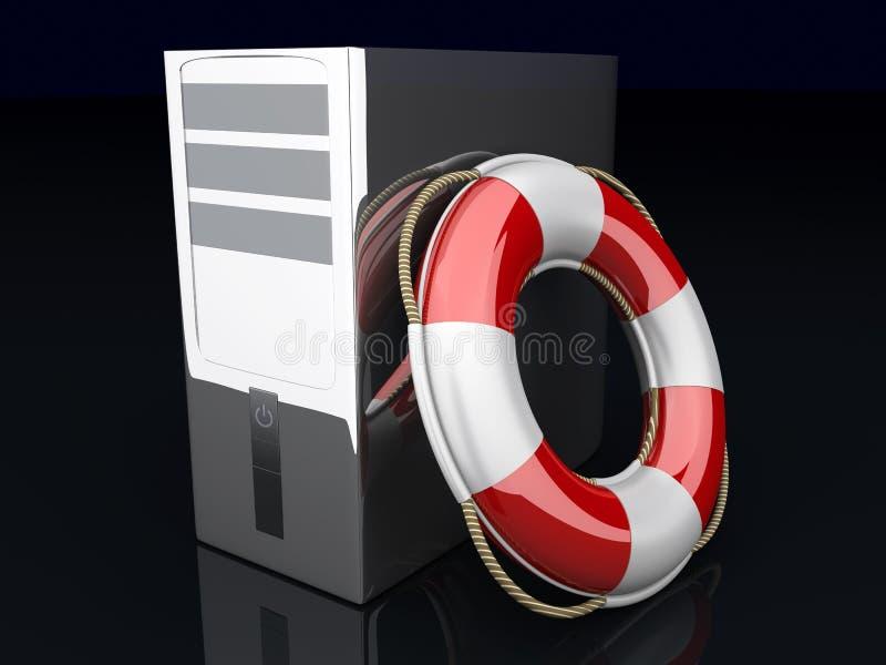 Download Desktop PC Life Belt stock illustration. Image of belt - 22454783