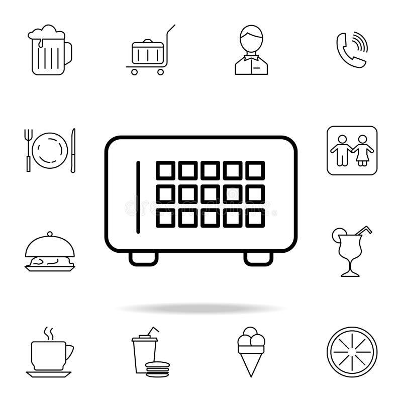 Desktop radiopictogram Element van eenvoudig pictogram voor websites, Webontwerp, mobiele app, informatiegrafiek Dun lijnpictogra vector illustratie