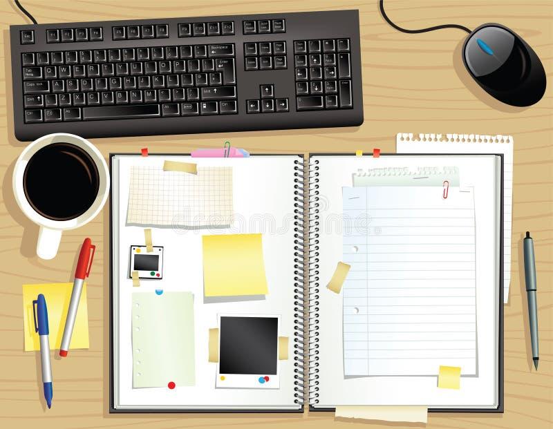 Desktop und Einklebebuch vektor abbildung