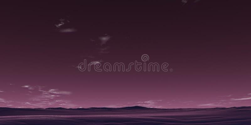 Desktop violeta ilustração royalty free