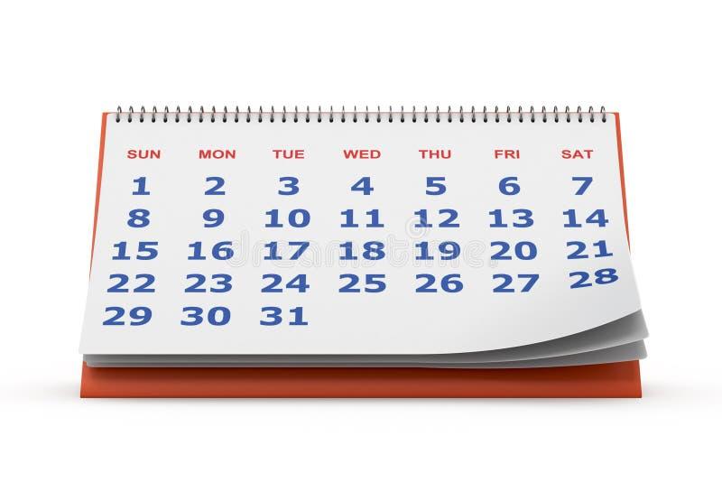 Desktopkalender stock illustratie