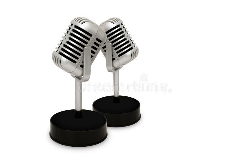 Desktopmicrofoon van een witte achtergrond wordt gescheiden die Uitstekende st royalty-vrije illustratie