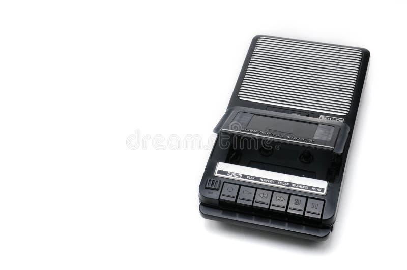 Desktoptype cassetterecorder de van weleer op geïsoleerd wit backgr stock foto's