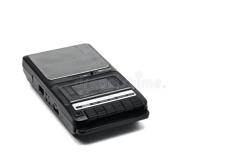 Desktoptype cassetterecorder de van weleer op geïsoleerd wit backgr stock foto