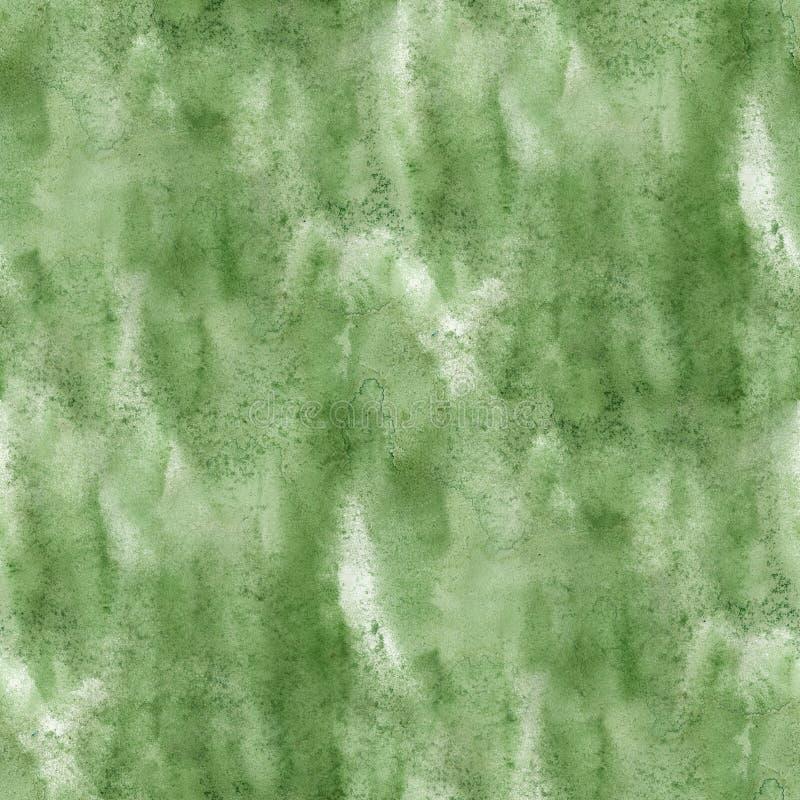 Deslúmbrese de textura verde inconsútil de la acuarela de la pintura con los puntos y raya arte libre illustration