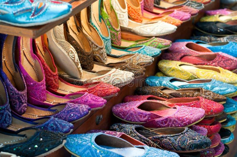 Deslizadores árabes coloridos tradicionais imagem de stock royalty free